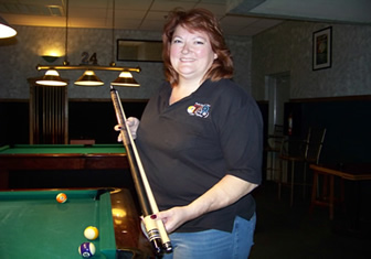 Dawn Holland-Williams wins 1st place in the Captains 8-ball pool tournament