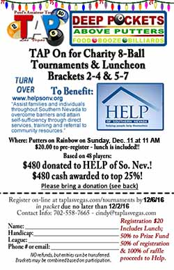 Help of Southern Nevada charity 8-ball tournament