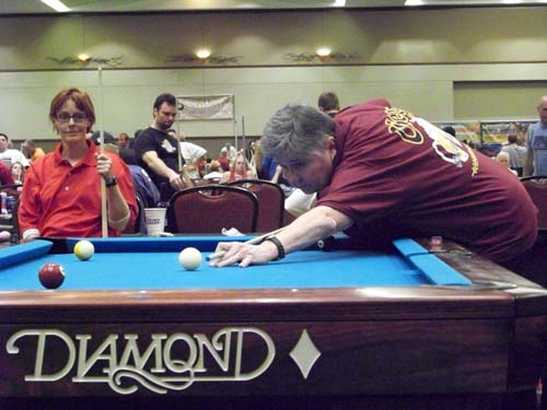 Donna Schwitters wins 3rd place in 9-ball singles